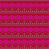 Seamless knitted Christmas retro pattern Royalty Free Stock Photo