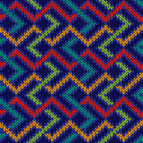 Seamless knitted colorful pattern Stock Photos