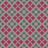 Seamless knitted geometric pattern. EPS available Stock Photography