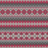 Seamless knitted geometric pattern. EPS available Royalty Free Stock Photos