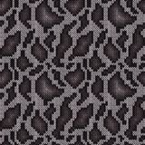 Seamless knitted grayish camouflage pattern. Seamless camouflage background, knitting vector pattern as a fabric texture in dark and light grayish hues Royalty Free Stock Image