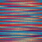 Seamless Knitted Melange Pattern. Blue Yellow Red Color Vector Illustration. Seamless Knitted Melange Pattern. Blue Yellow Red Color Vector Illustration Vector Illustration