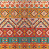 Seamless knitted navajo pattern Royalty Free Stock Image