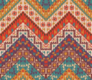Seamless knitted navajo pattern Royalty Free Stock Photography