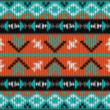 Seamless knitted navajo pattern Royalty Free Stock Photos