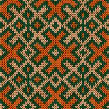 Seamless knitted ornate pattern Royalty Free Stock Photography