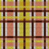 Seamless knitted pattern in brown, yellow and white Royalty Free Stock Photos