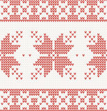 Seamless knitted pattern with christmas ornament Stock Photography