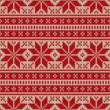 Seamless knitted pattern Royalty Free Stock Photo