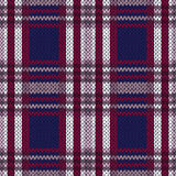 Seamless knitted pattern in contrast colors Stock Photos