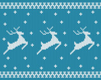 Seamless knitted pattern with deers. Stock Image