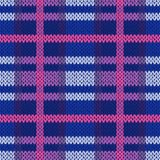Seamless knitted pattern in different colors Stock Photo