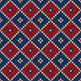 Seamless knitted pattern. EPS available Royalty Free Stock Images