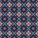 Seamless knitted pattern. EPS available Royalty Free Stock Image