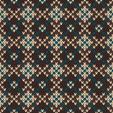 Seamless knitted pattern. EPS available Royalty Free Stock Photography