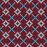 Seamless knitted pattern. EPS available Stock Photography