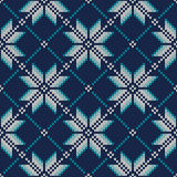 Seamless Knitted Pattern. Fair Isle Style Knitting Sweater Desig Stock Photography