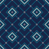 Seamless Knitted Pattern. Fair Isle Style Knitting Sweater Desig. Seamless Pattern on the Wool Knitted Texture. EPS available Royalty Free Stock Image