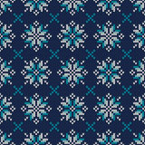 Seamless Knitted Pattern. Fair Isle Style Knitting Sweater Design Stock Image