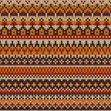 Seamless knitted pattern in Fair Isle style. Nordic traditional Fair Isle style seamless pattern on the wool knitted texture. EPS available Royalty Free Stock Photos