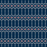 Seamless Knitted Pattern in Fair Isle style Stock Images
