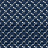 Seamless Knitted Pattern. Fashionable Sweater Design Stock Images