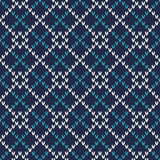 Seamless Knitted Pattern. Festive and Fashionable Sweater Design Royalty Free Stock Photography