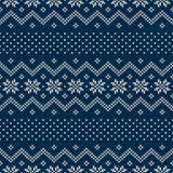 Seamless Knitted Pattern. Festive and Fashionable Sweater Design. Seamless pattern ornament on the wool knitted texture. EPS available Stock Photo