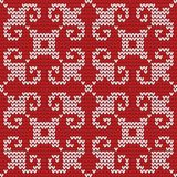 Seamless knitted pattern. Stock Images