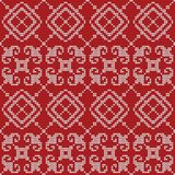 Seamless knitted pattern. Royalty Free Stock Photos