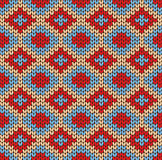 Seamless knitted pattern Stock Images