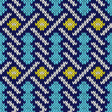 Seamless knitted pattern with intertwining lines Stock Photography