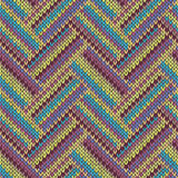 Seamless knitted pattern. Multicolored tribal template Stock Photos