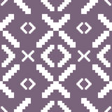 Seamless knitted pattern in muted purple color Royalty Free Stock Photography