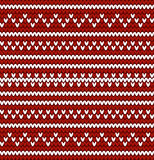 Seamless knitted pattern in nordic style Stock Image