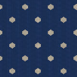 Seamless knitted pattern with polka dot Royalty Free Stock Image