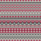 Seamless knitted pattern in traditional Fair Isle style. EPS available Royalty Free Stock Photo