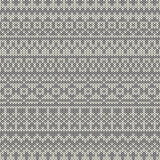 Seamless knitted pattern in traditional Fair Isle  Royalty Free Stock Images