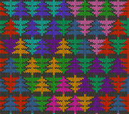 Seamless knitted pattern with trees Royalty Free Stock Photography