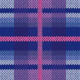 Seamless knitted pattern in various colors Royalty Free Stock Photos