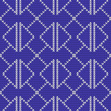 Seamless knitted pattern. Royalty Free Stock Images