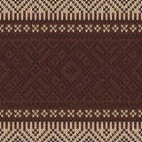 Seamless knitted pattern. Vector background Royalty Free Stock Photos