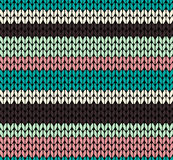 Seamless knitted pattern Stock Photography