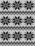 Seamless knitted pattern Stock Image