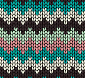 Seamless knitted pattern Royalty Free Stock Photos