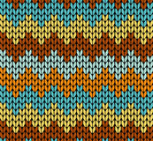 Seamless knitted pattern Royalty Free Stock Image