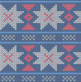 Seamless knitted pattern Royalty Free Stock Images