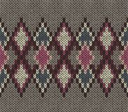 Seamless Knitted Pattern. Vinous White Brown Color. Fashionable youth modern style. Royalty Free Stock Photo