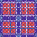 Seamless knitted pattern in violet, blue and terracotta light co Royalty Free Stock Photos