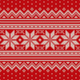 Seamless knitted pattern. Wool Sweater Design. Seamless pattern ornament on the wool knitted texture. EPS available Stock Photo
